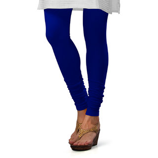Royal Blue Cotton Lycra Leggings