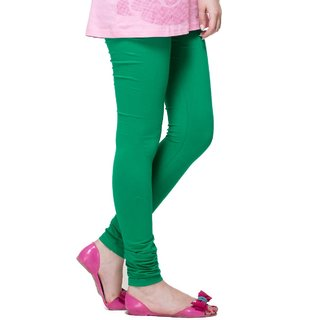 Bottle Green Cotton Lycra Leggings