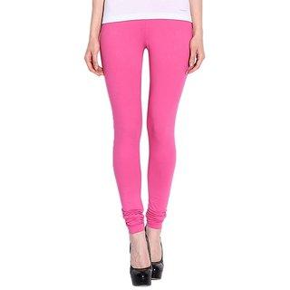 Pink Cotton Lycra Leggings