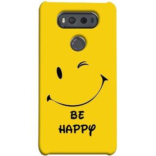 FUSON Designer Back Case Cover for LG V20 Dual H990DS :: LG V20 Dual H990N (Yellow Background Cute Smiling Smiley Big Smile)