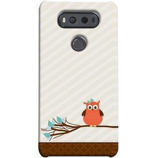 FUSON Designer Back Case Cover for LG V20 Dual H990DS :: LG V20 Dual H990N (Birds Sitting Alone Waiting For Partner Leaves Leaf)