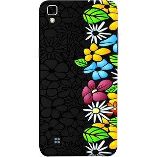 FUSON Designer Back Case Cover for LG X Power :: LG X Power K220DS K220 (Multicolour Flowers Phul Gray Geen Leaves Beautiful)