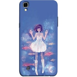 FUSON Designer Back Case Cover for LG X Power :: LG X Power K220DS K220 (Blue Water Fish Big Bubbles Shells Doll Dress )