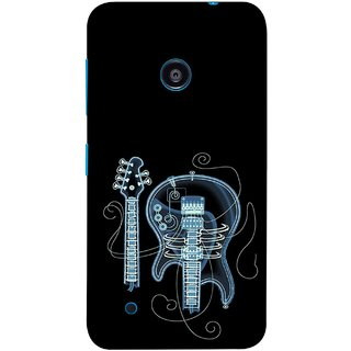 FUSON Designer Back Case Cover for Nokia Lumia 530 :: Nokia Lumia 530 RM 1017 :: Nokia Lumia 530 Dual SIM :: Microsoft Lumia 530 Dual (Musical Instrument Vintage Bass Music Lovers Play)