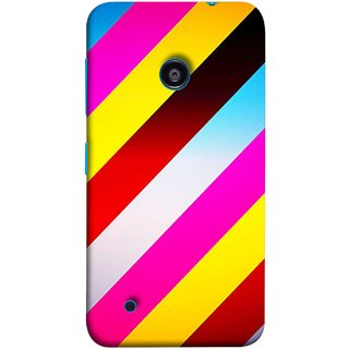 FUSON Designer Back Case Cover for Nokia Lumia 530 :: Nokia Lumia 530 RM 1017 :: Nokia Lumia 530 Dual SIM :: Microsoft Lumia 530 Dual (Gliding Striped Fabric Floral Patterns Shining Dark Patterns)