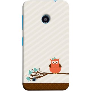 FUSON Designer Back Case Cover for Nokia Lumia 530 :: Nokia Lumia 530 RM 1017 :: Nokia Lumia 530 Dual SIM :: Microsoft Lumia 530 Dual (Birds Sitting Alone Waiting For Partner Leaves Leaf)