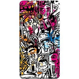 FUSON Designer Back Case Cover for Microsoft Lumia 535 :: Microsoft Lumia 535 Dual SIM :: Nokia Lumia 535 (Many People Mob Looking Shouting Laughing Stars )