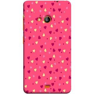 FUSON Designer Back Case Cover for Microsoft Lumia 535 :: Microsoft Lumia 535 Dual SIM :: Nokia Lumia 535 (Valentine Pink Metallic Cool Peace Sign Symbol Pillow)