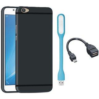 Motorola Moto C Plus Ultra Slim Back Cover with USB LED Light and OTG Cable