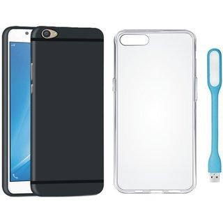 Motorola Moto C Plus Sleek Design Back Cover with Silicon Back Cover, USB LED Light