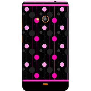 FUSON Designer Back Case Cover for Microsoft Lumia 540 Dual SIM (Lines Of Pink Blurred Balls Falling Against A Black Background)