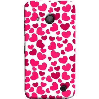FUSON Designer Back Case Cover for Microsoft Lumia 550 (Abstract Love Heart Background Lovers Valentine)