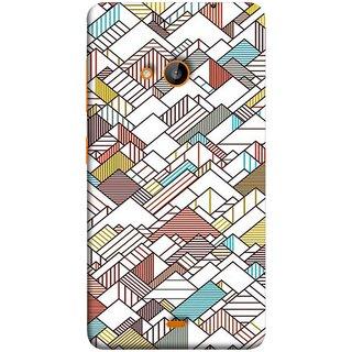 FUSON Designer Back Case Cover for Microsoft Lumia 540 Dual SIM (Watercolor Horizontal Vertical Vector Lines Colourful)