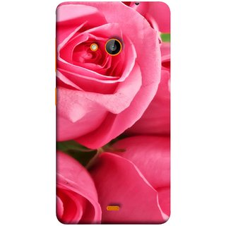 FUSON Designer Back Case Cover for Microsoft Lumia 540 Dual SIM (Close Up Red Roses Chocolate Hearts For Valentines Day)