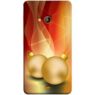 FUSON Designer Back Case Cover for Microsoft Lumia 540 Dual SIM (Holidays Party Arrange Yellow Red Pink Back Smokes)