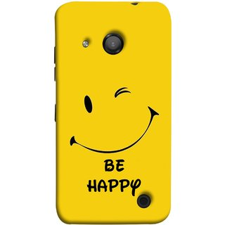 FUSON Designer Back Case Cover for Microsoft Lumia 550 (Yellow Background Cute Smiling Smiley Big Smile)