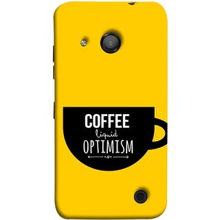 FUSON Designer Back Case Cover for Microsoft Lumia 550 (Lost Bumblebee Right Coffee Fuel Buy Gourmet Coffee)