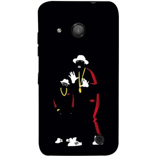 FUSON Designer Back Case Cover for Microsoft Lumia 550 (Ultraviolet Light White Shoes Posing Spects Gold )