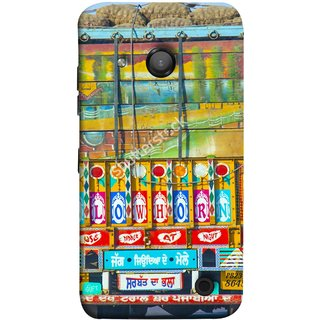 FUSON Designer Back Case Cover for Microsoft Lumia 550 (Decorated Goods Carrier On Indian Road Stop Dil Tera)