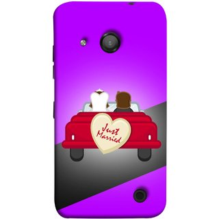 FUSON Designer Back Case Cover for Microsoft Lumia 550 (Banner Boards Marriage Coulples Car Travel )