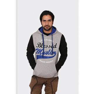 Modest Attires Men's Grey 100% Cotton Sweatshirt Pack of 4