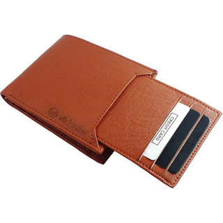 Wildantler Men Tan Artificial Leather Wallet (7 Card Slots)