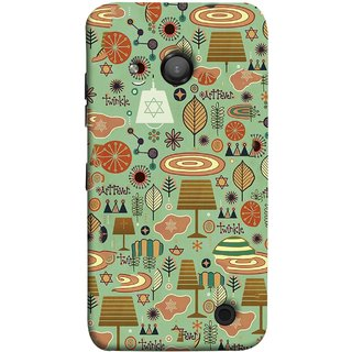 FUSON Designer Back Case Cover for Microsoft Lumia 550 (Retro Summer Village Vector Artwork Unique Designs)