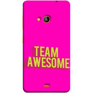 FUSON Designer Back Case Cover for Nokia Lumia 730 Dual SIM :: Nokia Lumia 730 Dual SIM RM-1040 (Teamwork Is Best Hardwork Alltogether Result Best)