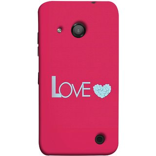 FUSON Designer Back Case Cover for Microsoft Lumia 550 (Best Gift For Valentine Friends Lovers Couples Baby Pink Red )