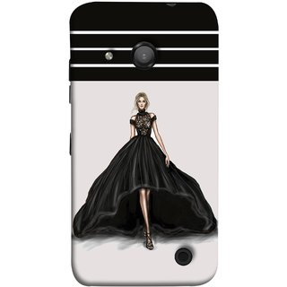 FUSON Designer Back Case Cover for Microsoft Lumia 550 (On Stage High Heel Cat Walk Black Dress )