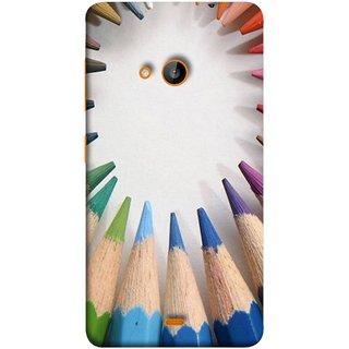 FUSON Designer Back Case Cover for Nokia Lumia 730 Dual SIM :: Nokia Lumia 730 Dual SIM RM-1040 (Color Circle Bunch Of Pencil Boys Girls Childrens School)