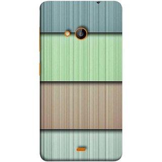 FUSON Designer Back Case Cover for Nokia Lumia 730 Dual SIM :: Nokia Lumia 730 Dual SIM RM-1040 (Strips Green Gray Sunmica Plywood Back Art)