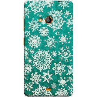 FUSON Designer Back Case Cover for Nokia Lumia 730 Dual SIM :: Nokia Lumia 730 Dual SIM RM-1040 (Different Size Winter Snow Enjoying Ornaments Green)