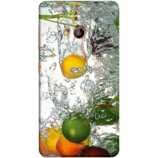 FUSON Designer Back Case Cover for Nokia Lumia 730 Dual SIM :: Nokia Lumia 730 Dual SIM RM-1040 (Lot Of Green Yellow Lemons Apples Fruits )
