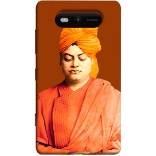 FUSON Designer Back Case Cover for Nokia Lumia 820 (Devotion Quotes Of Swami Equated Raja Yoga Spirit)