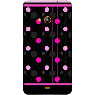 FUSON Designer Back Case Cover for Nokia Lumia 730 Dual SIM :: Nokia Lumia 730 Dual SIM RM-1040 (Lines Of Pink Blurred Balls Falling Against A Black Background)