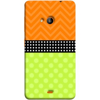 FUSON Designer Back Case Cover for Nokia Lumia 730 Dual SIM :: Nokia Lumia 730 Dual SIM RM-1040 (Pack Craft PaperWhite Dots On Black Background)