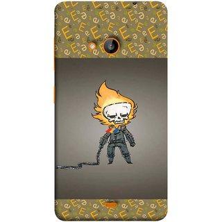 FUSON Designer Back Case Cover for Nokia Lumia 730 Dual SIM :: Nokia Lumia 730 Dual SIM RM-1040 (Chain Chronicle Weeping Fire Sprite Background)