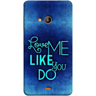 FUSON Designer Back Case Cover for Nokia Lumia 730 Dual SIM :: Nokia Lumia 730 Dual SIM RM-1040 (Baby Couples Nice Quotes Happy Lovely Hard Kisses )