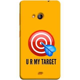 FUSON Designer Back Case Cover for Nokia Lumia 730 Dual SIM :: Nokia Lumia 730 Dual SIM RM-1040 (Dark Red Circle Dartarchery Targets Compound Bow And Arrow)