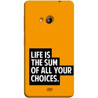 meet fb6d9 58290 FUSON Designer Back Case Cover for Nokia Lumia 730 Dual SIM :: Nokia Lumia  730 Dual SIM RM-1040 (Jindgi Tumhari Nirnay Ka Natija Hai Long Life)