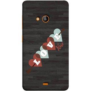 FUSON Designer Back Case Cover for Nokia Lumia 730 Dual SIM :: Nokia Lumia  730 Dual SIM RM-1040 (Grey Plywood Sunmica Best Perfect Wow Pyar Prem)