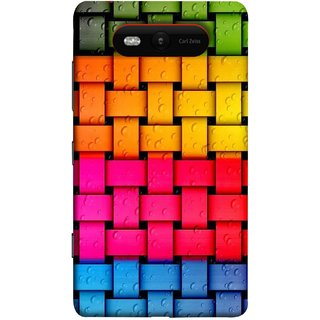 FUSON Designer Back Case Cover for Nokia Lumia 820 (Bright And Beautiful Colour Strips And Band Glossy)