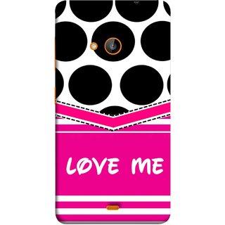 cheap for discount 4721a c8683 FUSON Designer Back Case Cover for Nokia Lumia 730 Dual SIM :: Nokia Lumia  730 Dual SIM RM-1040 (Pink Design Paper Big Black Circles Bubbles )