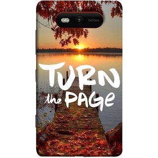 FUSON Designer Back Case Cover for Nokia Lumia 820 (Nice Good Morning Sunshine Rise Lake Shore )