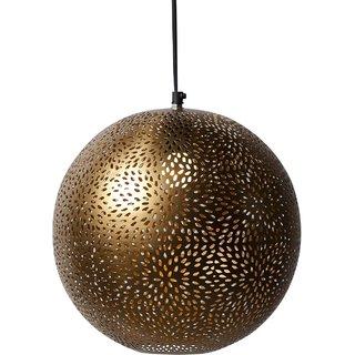 Vriksh of Life Gold Round Hanging Lamp