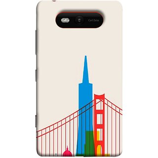 FUSON Designer Back Case Cover for Nokia Lumia 820 (Astounding Skyscrapers Of Remarkable Architectural)