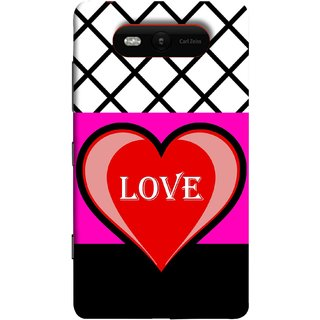 FUSON Designer Back Case Cover for Nokia Lumia 820 (Pink Red Wallpapers Flowers Lovers Boyfriends Black)