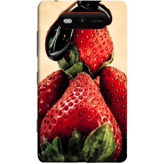 FUSON Designer Back Case Cover for Nokia Lumia 820 (Best Fresh Strawberry Sweet Dish Homemade Recipes)