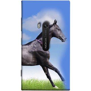 FUSON Designer Back Case Cover for Nokia Lumia 920 :: Micosoft Lumia 920 (Black Horse Blue Sky Clouds Look)
